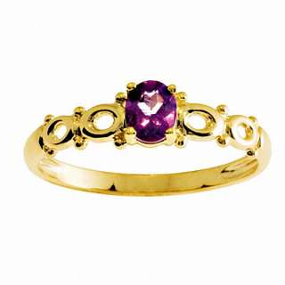 Antique Amethyst Diamond 9k 9ct Solid Yellow Gold Ring