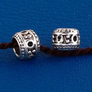 25X Tibetan Silver Tribal Big Hole Charm Beads Kf408