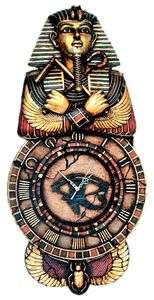 King Tut Sarcophagus Eye of Horus Egyptian Numerals Wall Clock