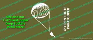WWII C 47 D Day Paratrooper Parachute Vinyl Sticker Decal