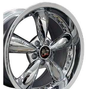 Bullitt Style Deep Dish Wheels with Rivets Fits Mustang (R