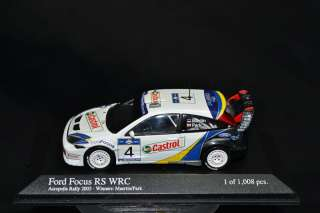 43 Scale Ford Focus RS WRC #4 Martin/Park Minichamps
