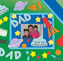 Foam Craft Kit Fathers Day Picture Frame, Kids Craft