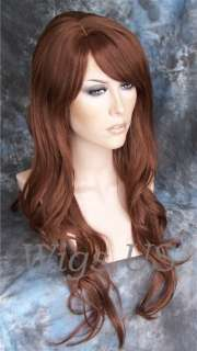 Wigs Auburn Skin Side Part Extra Long Wig US Seller