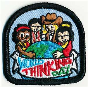 Girl WORLD THINKING DAY PEOP Patches Crests SCOUT/GUIDE