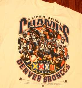 Vintage Denver Broncos NFL Football SuperBowl T Shirt L