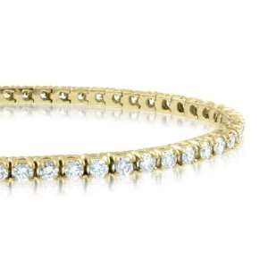 Diamond Bracelet in 18k Yellow Gold Tennis Bracelet (G, SI1, 3.38