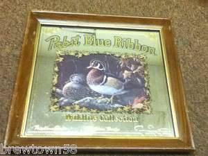 C8 PABST BEER SIGN MIRROR WOOD DUCK WILDLIFE COLLECTION 3RD VINTAGE