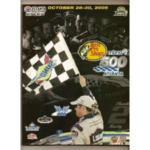 2005 Bass Pro Shops 500 Nascar Program Carl Edwards win NASCAR Books
