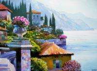 THIS CANVAS HAS BEEN HAND EMBELLISHED BY HOWARD BEHRENS HIMSELF USING