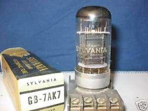 Radio Tubes 7AK7 Sylvania Gold Brand NOS