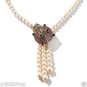 Heidi Daus Lovely Ladybug Crystal Accented Necklace