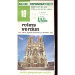 Map 10 France Reims Verdun Carte Topographique: none: Books