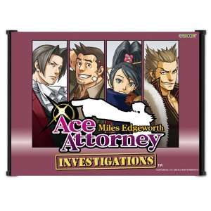 Ace Attorney Phoenix Wright Apollo Justice Game Fabric Wall Scroll