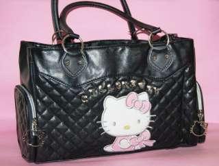 New Rhinestone Black Hellokitty Shoulder Bag Handbags Purse