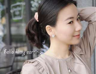 Hello Kitty PINK Crown Princess earring earbob #E14