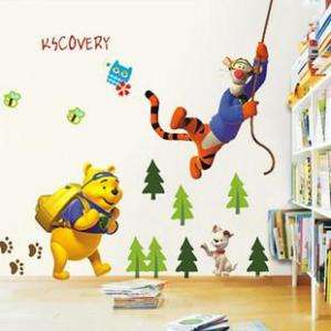 WINNIE THE POOH Art Deco decal Wall Paper Sticker tiger