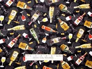 Elizabeths Studio Wine Country Cork Corkscrew Wine Bottle Grape Black