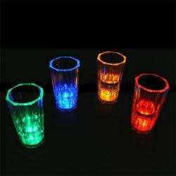LIGHT UP LED FLASHING MARGARITA,WINE, MARTINI GLASS SET