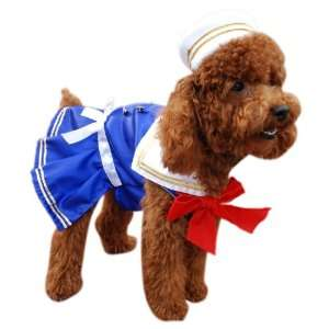 Anit Accessories Sailor Girl Dog Costume, 16 Inch: Pet Supplies