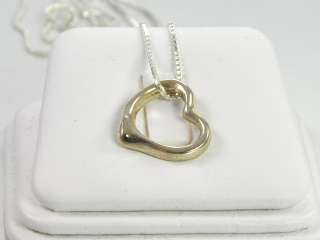 Sterling Silver .925 Open Heart Necklace Pendant Chain
