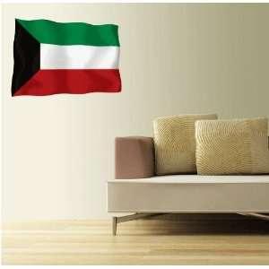 KUWAIT Flag Wall Decal Room Decor Sticker 25 x 18