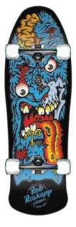 Old School Santa Cruz Skateboards Rob Roskopp Face 2 Black Complete