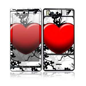 Floral Heart Design Decorative Skin Cover Decal Sticker for Motorola
