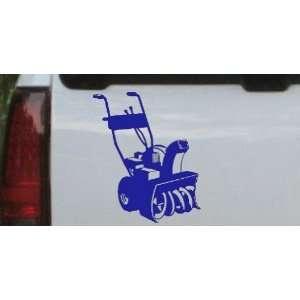 Snow Blower Business Car Window Wall Laptop Decal Sticker    Blue 18in