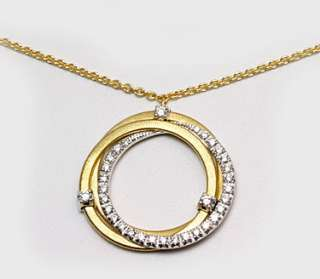Marco Bicego GOA Yellow Gold Diamond Necklace CG674 B2