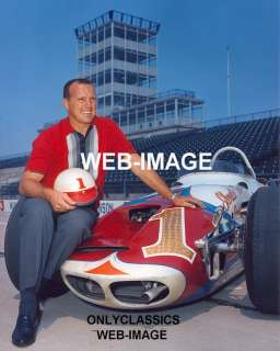 1964 A.J. FOYT OFFY #1 INDY 500 WIN PHOTO USAC CHAMPION