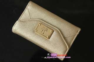Gold Elegant Luxury Leather Card Holder Wallet Bag Case Cover iphone 4