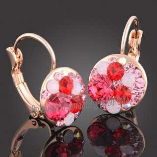 18K gold Gp Swarovski Crystal Mickey jewelry set 726