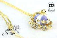 R87 Pumpkin Carriage Charm Pendant Necklace (+Gift Box)