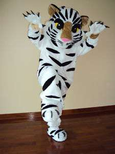 PROFESSIONAL WHITE TIGER FROM THE JUNGLE MASCOT COSTUME