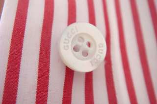 Gucci Runway Red/White Stripe Shirt Dress NEW NWT $1,100 size 38/4 or