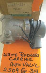 WHITE RODGERS 2509G 34 AUTOMATIC VALVE 1/2 NEW $39