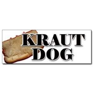 48 KRAUT DOG DECAL sticker weiner sauerkraut hot dog: Everything Else