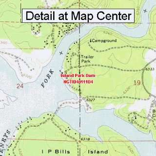 Map   Island Park Dam, Idaho (Folded/Waterproof)