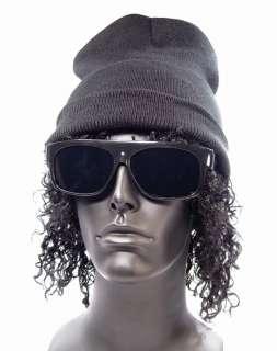 Gusto 80s Gangsta NWA Gangster Loc Sunglasses and WIG Costume