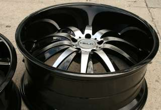 HELO 851 22 BLACK RIMS WHEELS NISSAN 350Z STAGGERED / 22 X 8.5/10 5H