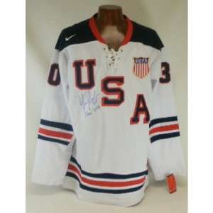 Tim Thomas Boston Bruins signed Autographed USA Olympic Jersey