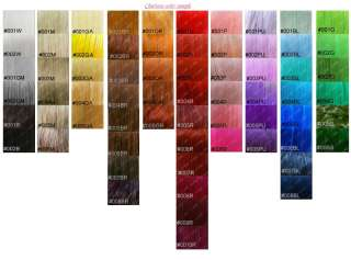 this is our colour chart