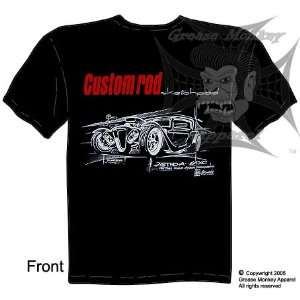 , Custom Sketchpad Astro, Hot Rod T Shirt, New, Ships within 24 hours