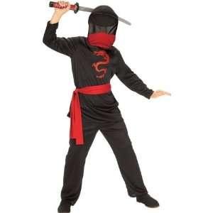 Kids Halloween Mask Karate Ninja Boy Costume size Boys