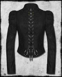 SPIN DOCTOR BLACK LACE STEAMPUNK ALBERTINE JACKET SZ