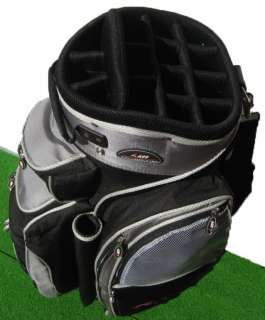 A99 golf 14way full length divider golf cart bag black/teal a08