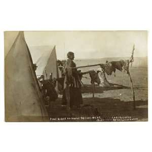 Pine Ridge Indians drying meat,Sioux Indian woman,c1908