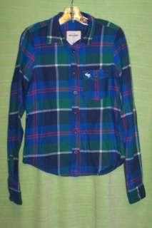 Girls Abercrombie Plaid Flannel Shirts