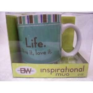 Boston Warehouse Inspirational Mug, Life. Live it, Love it